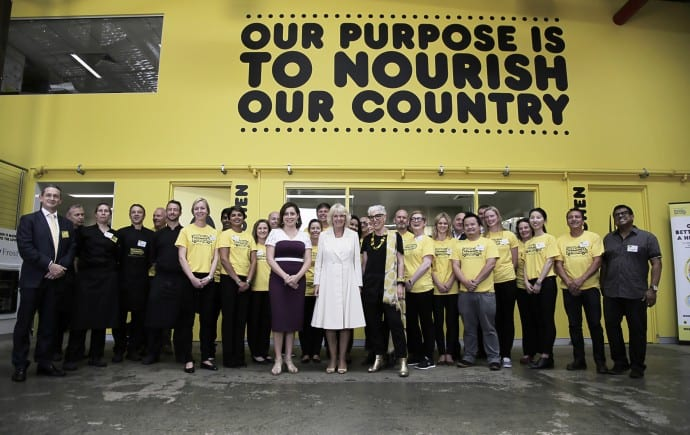 OzHarvest touched by Royalty with a visit from Her Royal Highness to food rescue headquarters