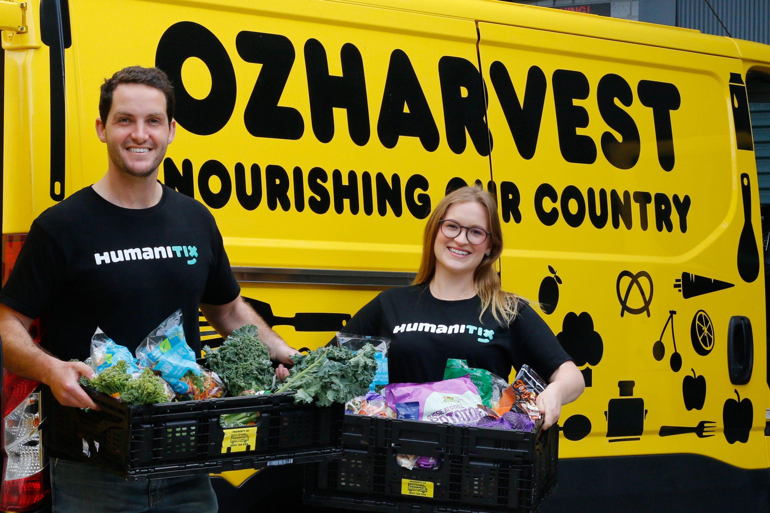 Adam McCurdie (CEO – Australia) and Georgia Robertson (CEO - New Zealand) at OzHarvest