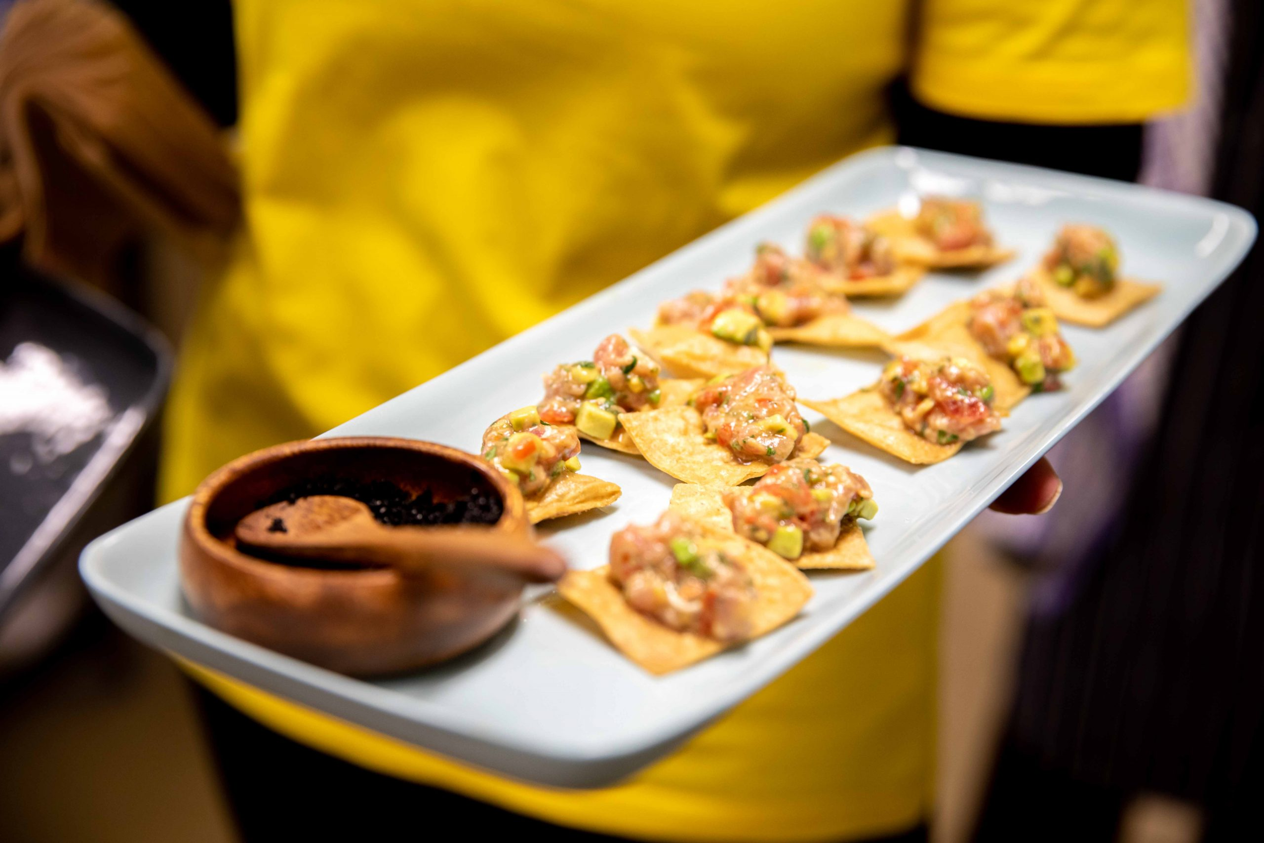 Tray of food during a ForPurposeCo event