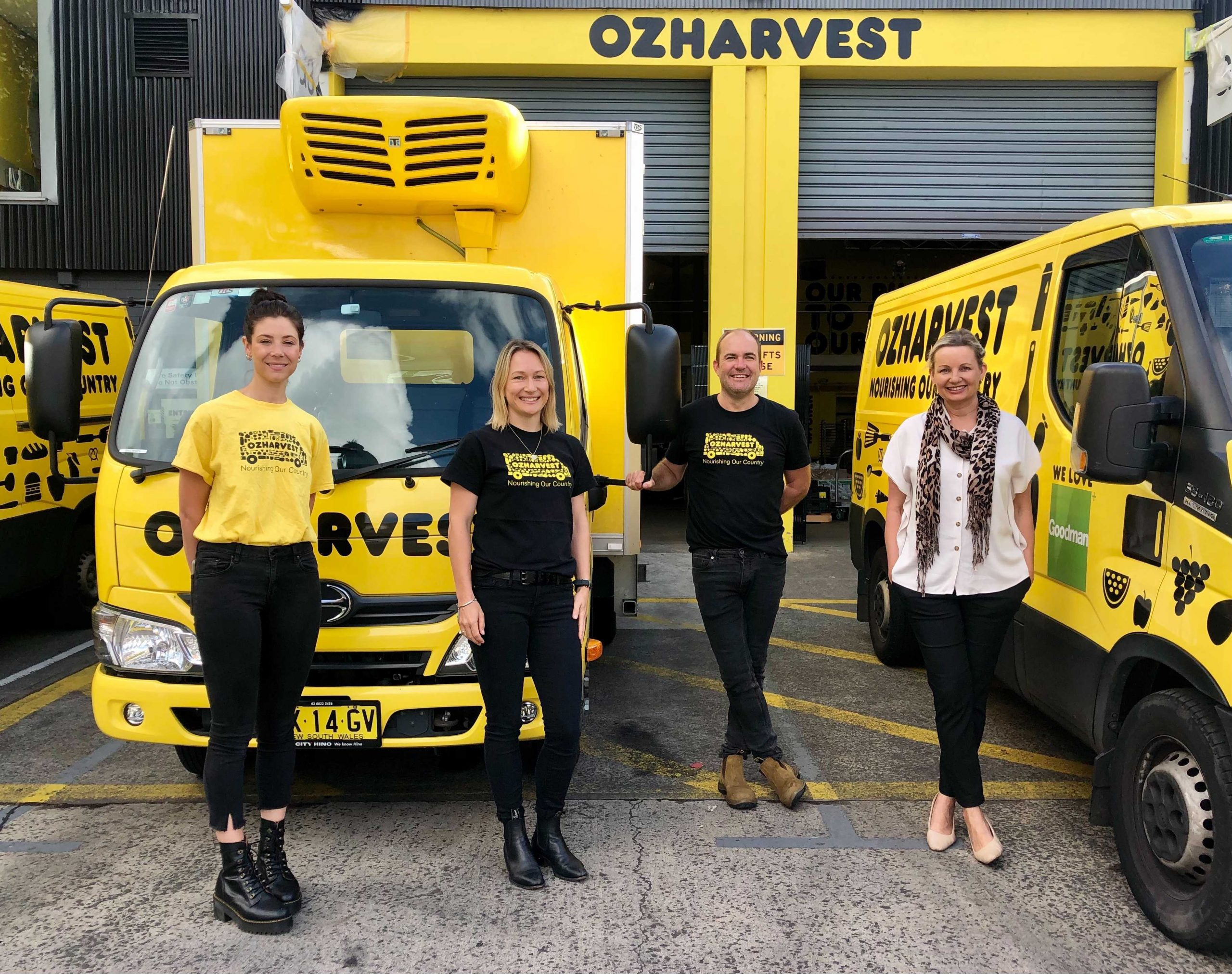 Ozharvest-staff-ash-annika-and-rich-with-the-hon-sussan-ley-mp-environment-minister-scaled