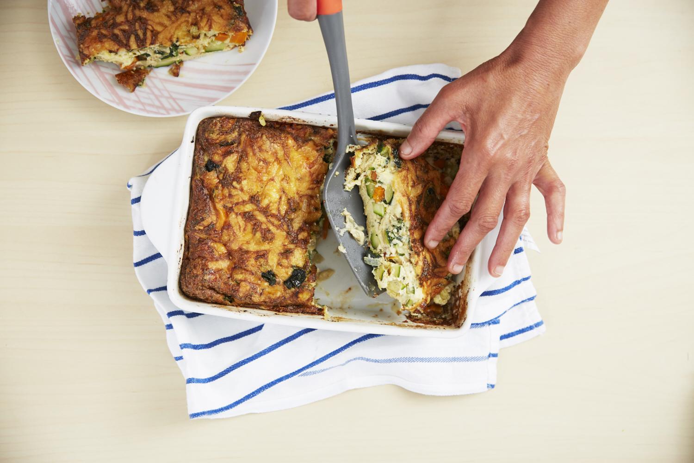 Easy Zucchini and Cheese Frittata